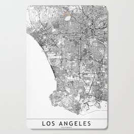 Los Angeles White Map Cutting Board