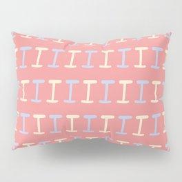 Hand Written Capital I Pattern Pillow Sham