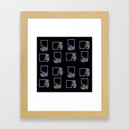 By Faith (purple) Framed Art Print