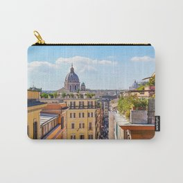 ROME the Streets:  Rooftop View of Rome, Italy Carry-All Pouch