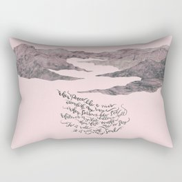 It Is Well With My Soul -pink&grey Rectangular Pillow