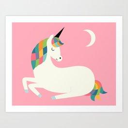 Unicorn Happiness Art Print