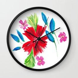 Vintage Floral Spray Wall Clock