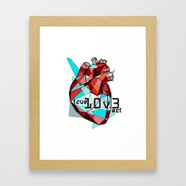 True Love: Color Framed Art Print