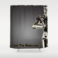 c3po Shower Curtains featuring C3PO by KL Design Solutions