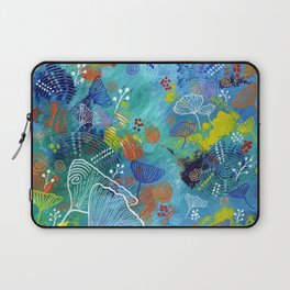 Blue Dried Flowers Laptop Sleeve