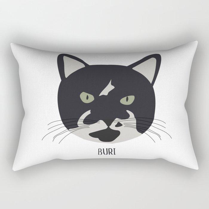 Family Cat Portraits, Buri Rectangular Pillow