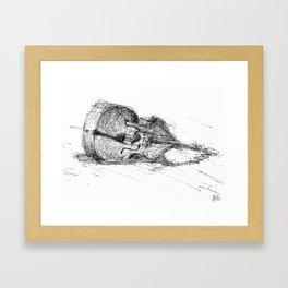 Contrabass resting Framed Art Print