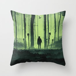 Mysteriously Lost Throw Pillow