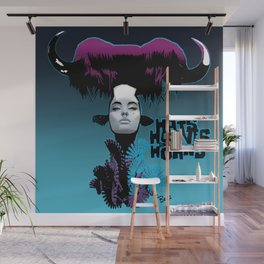 Hats, Hooves and Horns Wall Mural