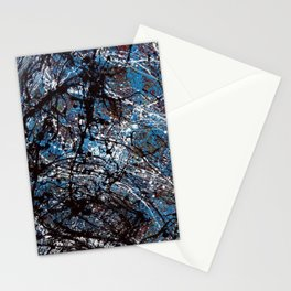 """Number 4"" Abstract Painting by Mark Compton Stationery Cards"