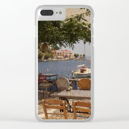 Serenity; ocean bay views Clear iPhone Case