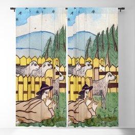 BETHLEHEM PROSPECTUS 2 (Painted Shed) Blackout Curtain