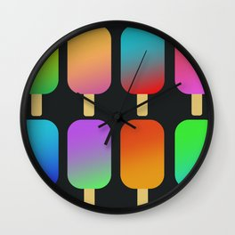 icecreams_black Wall Clock