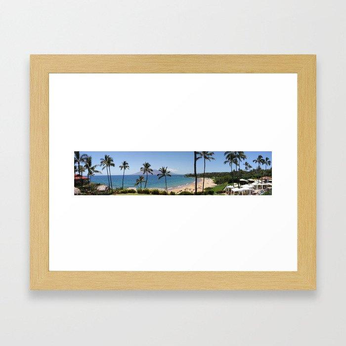 Maui Panorama Framed Art Print