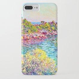 Landscape near Montecarlo - Claude Monet iPhone Case