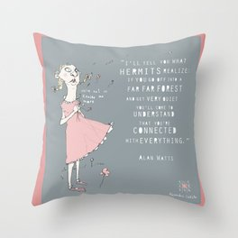 Hermit - Alan Watts Throw Pillow
