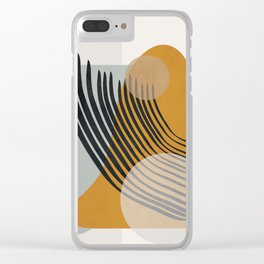 Abstract Shapes 33 Clear iPhone Case