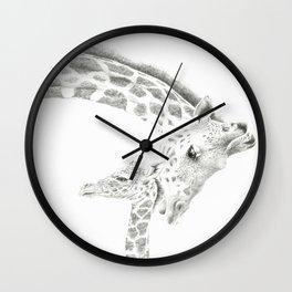 Reticulated Giraffes, Camelopardis Reticulata Wall Clock
