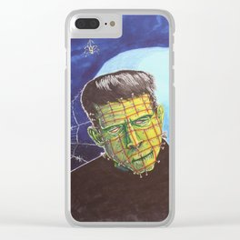 Franken-Pin Clear iPhone Case