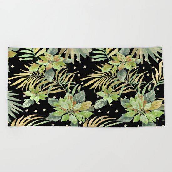 tropical nite Beach Towel