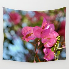 Pink in Nature Wall Tapestry