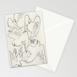 Doves flying Stationery Cards