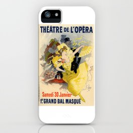 Belle Epoque vintage poster, French Theater, Theatre de L'Opera iPhone Case