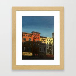 Half Moon Over Chelsea Framed Art Print