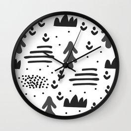 Sandinavian absract art Wall Clock