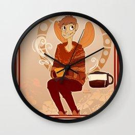 Coffee Fairy Wall Clock