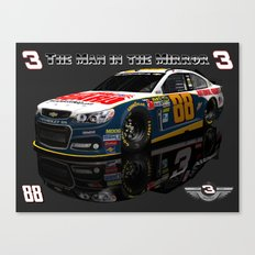 Man in the Mirror #NASCAR Canvas Print
