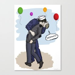 VJ-Day (Sherlock) Canvas Print