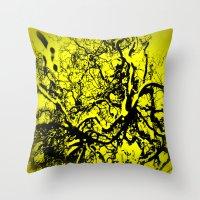inner demons Throw Pillows featuring Demons  by Eve Penman
