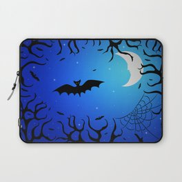 Bats in the dark forest for Halloween Laptop Sleeve