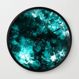 Fantasy Blue Clouds Wall Clock