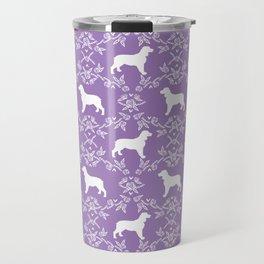 English Springer Spaniel dog breed floral pet portraits dog silhouette dog pattern Travel Mug