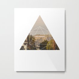 Hollywood Sign - Geometric Photography Metal Print