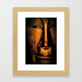 BuddhaFace golden Framed Art Print