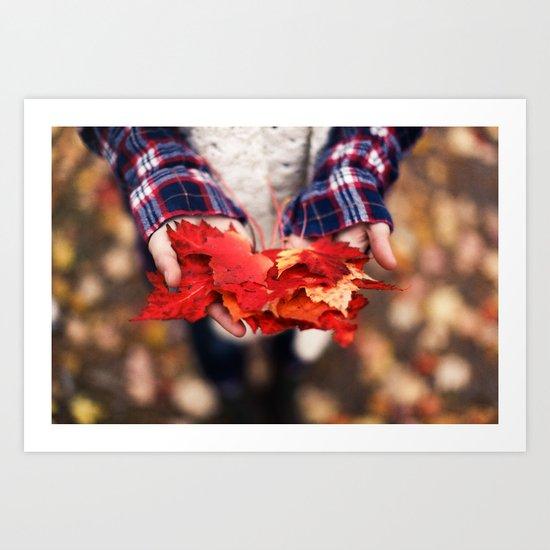 Hands of Fall Art Print