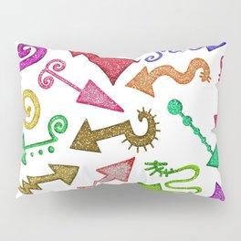 Glitter Arrow Doodles Pillow Sham