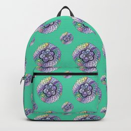 Green Watercolor Mandala Backpack