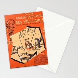 Werbeplakat journee nationale en faveur des Stationery Cards