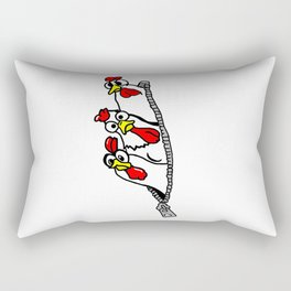 Zipper Chickens Rectangular Pillow