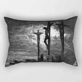 Crucifixiondarkness - Dore Rectangular Pillow