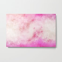 Smoky watercolor creamy pink Metal Print