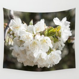 White Flowers Photography Print Wall Tapestry
