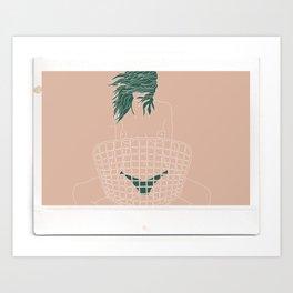 Instax-Peach Art Print