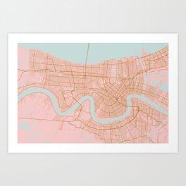 New Orleans map, Lousiana Kunstdrucke