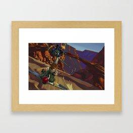 Airbike Dogfight Framed Art Print